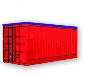 Frapack Exportverpackung Logistik container open top